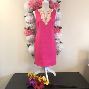 Maggy London Pink Beaded Dress Size  8